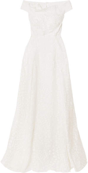 Roland Mouret Gildin Fil Coupé Gown - White