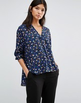 Paul Smith Liberty Print Long Sleeve Floral Print Blouse