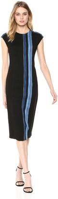 Rachel Roy Women's Tweed Stripe Midi Dress