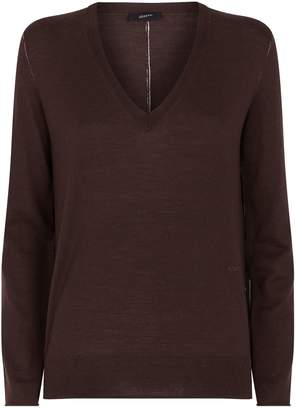 Joseph V-Neck Fine Merino Wool Sweater
