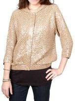 MANOUSH beige hooded short jacket with sequins