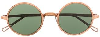 UMA WANG x Rigards small round-frame sunglasses
