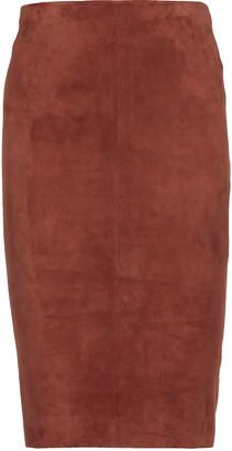 Drome Suede Longuette Skirt