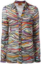 Missoni zebra print shirt - women - Cotton/Viscose - 40