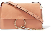 Chloé Faye Small Leather And Suede Shoulder Bag - Blush