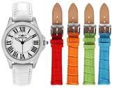 Invicta Women's Angel 15935 Quartz 3 Hand White Dial Leather Strap Watch - White
