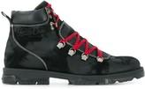 Jimmy Choo Barra oiled suede hiker boots