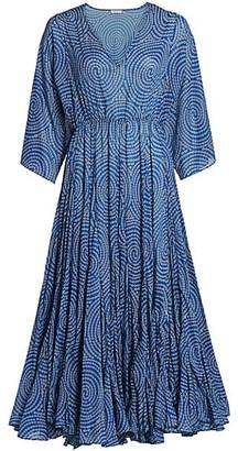 Rhode Resort Emily Dot Print Midi Dress