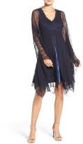 Komarov Embellished Chiffon Dress & Shawl (Petite)