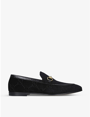 Gucci Jordaan GG-jacquard velvet loafers