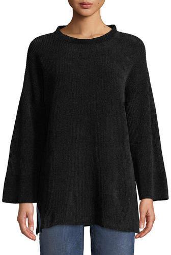 Eileen Fisher Organic Cotton Chenille Tunic Sweater