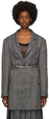 Rokh Grey Check Oversized Blazer