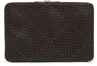 Bottega Veneta Large Leather Perforated Clutch Bag