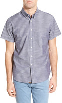 Billy Reid Classic Fit Stripe Short Sleeve Sport Shirt