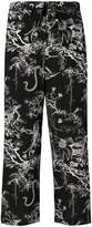 Alexander McQueen printed straight-leg trousers