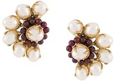 Goossens Perle Baroque asymmetric earrings