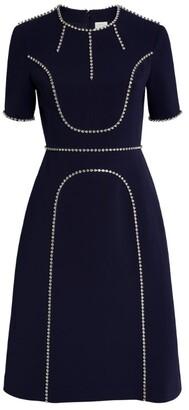 Huishan Zhang Violet Crystal-Embellished Dress