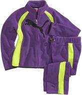 Puma Kids Set, Little Girls 2-Piece Raglan Fleece Jacket and Pants