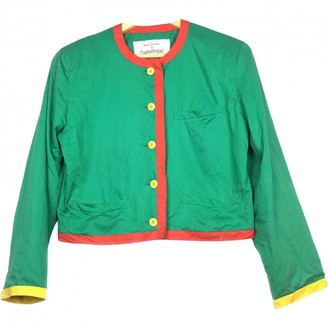JC de CASTELBAJAC Green Cotton Jacket for Women Vintage