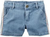 Carter's Girls 4-8 Chevron Side-Stripe Denim Shorts