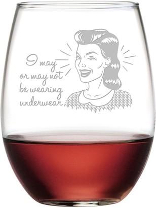 Susquehanna Glass May Not Be Wearing Underwear Stemless Wine Tumbler 21 oz
