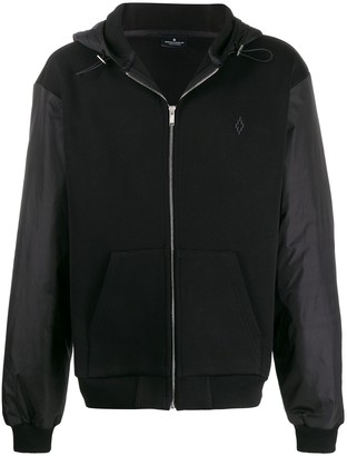 Marcelo Burlon County of Milan Logo-Embroidered Hooded Jacket