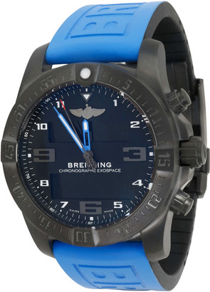 Breitling Black and Titanium Rubber Exospace VB5510H2/BE45 Men's Wristwatch 46MM