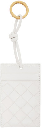 Bottega Veneta White Intrecciato Card Holder