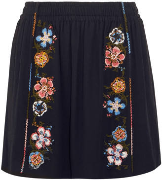 Chloé Embroidered Crepe Mini Skirt