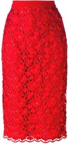 Piccione Piccione Piccione.Piccione floral lace embroidered pencil skirt