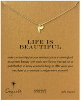 Dogeared Gold Dipped Life Is Beautiful Hummingbird Necklace