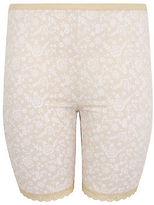 Yours Clothing YoursClothing Plus Size Womens Ladies Shapewear Lace Print Thigh Smoothers