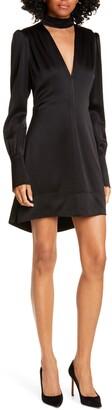 A.L.C. Garrison Cutout Long Sleeve High/Low Minidress