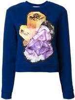 Carven crystal motif sweatshirt - women - Cotton/Polyester - S