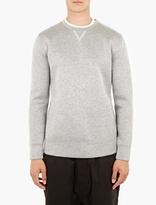 Helmut Lang Grey Tape-detail Sweatshirt