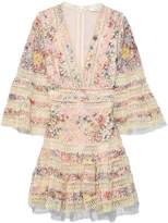 Zimmermann Lovelorn Floral Flutter Dress in Pink Floral