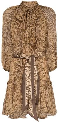 Zimmermann Leopard Print Mini Dress