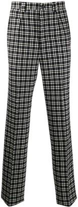 Givenchy High-Waist Plaid Trousers