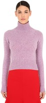 Victoria Beckham CROPPED WOOL KNIT SWEATER