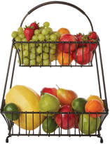 Mikasa Gourmet Basics Marketplace 2 Tier Flatback Basket
