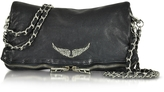 Zadig & Voltaire Rock Deep Dye Marine Leather Foldable Clutch