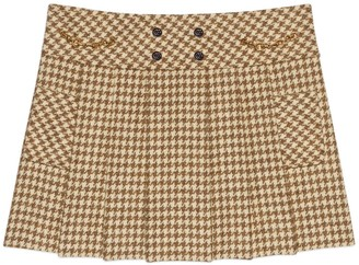 Gucci Houndstooth wool mini skirt