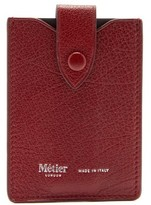 Métier London Metier London - Small Logo-stamped Leather Wallet - Womens - Burgundy