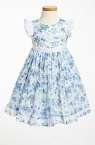 Laura Ashley Floral Dress (Toddler) Blue/ White 4T