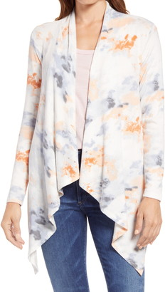 Bobeau Amie Waterfall Open Front Cardigan