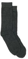 Anne AK Klein Bamboo Flat Knit Womens Crew Sock - 2 Pack