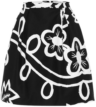 Carolina Herrera Floral stretch-cotton miniskirt