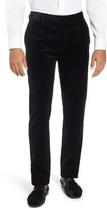 Frame Slim Fit Stretch Velvet Trousers