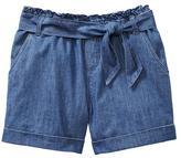 Gap Chambray paper bag shorts