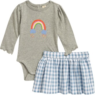 Tucker + Tate Graphic Check Bodysuit & Skirt Set
